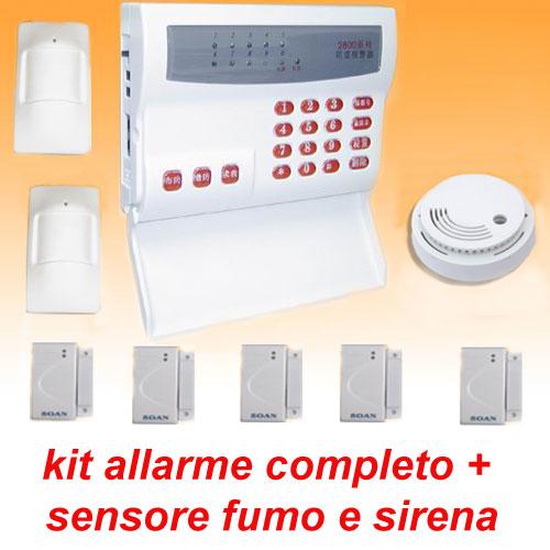 Allarme casa antifurto senza fili wireless kit sensori - Allarme casa wireless ...