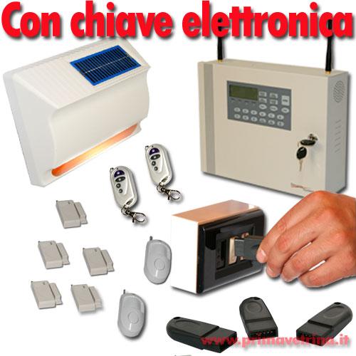 Allarme casa senza fili gsm chiave elettronica e sirena - Allarme per casa senza fili ...