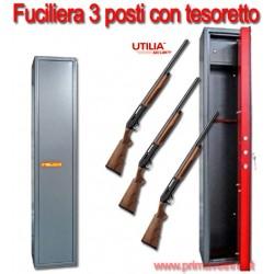 Fuciliera cassa forte porta fucili tre posti con tesoretto