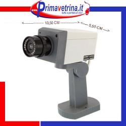 Telecamera videosorveglianza finta motorizzata sensore movimento