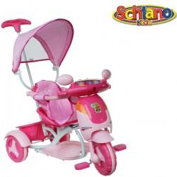 Triciclo bicicletta prima infanzia bimba suoni bauletto