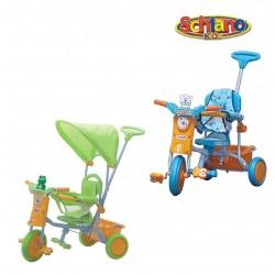 Triciclo bimba bimbo con sponde di sicurezza e maniglione sterza