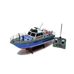Barca motoscafo della polizia radiocomandata completa di tutto