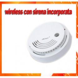 Sensore wireless senza fili rilevatore di fumo incendio