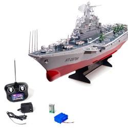 Nave da guerra portaerei russa radiocomandata lunga  78 cm con due motori completa di tutto
