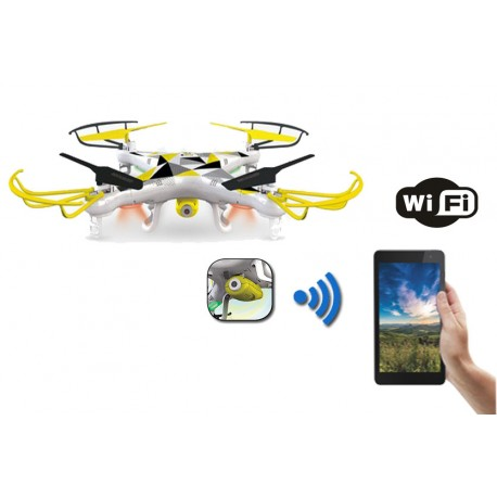 Drone quadricottero rc radiocomandato con videocamera visione in tempo reale dal Iphone o tablet con sistema wi-ri