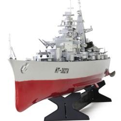 Corazzata incrociatore americano radiocomandato rc elettrico con due motori completo di tutto