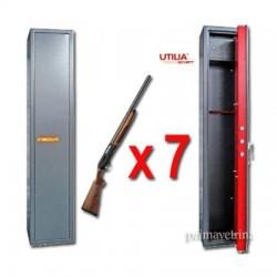 Armadio fuciliera porta fucili 7 posti con tesoretto