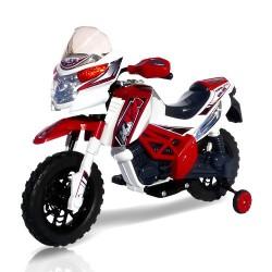 Moto elettrica per bambini Enduro Super Cross 12v  due motori da 20 watt