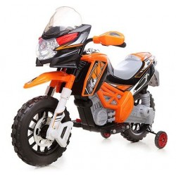 Moto elettrica per bambini Enduro Super Cross 12v due motori da 20 watt 6 Volt