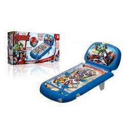 Flipper elettronico Avenger della Marvel con contapunti elettronico visibili su lvd