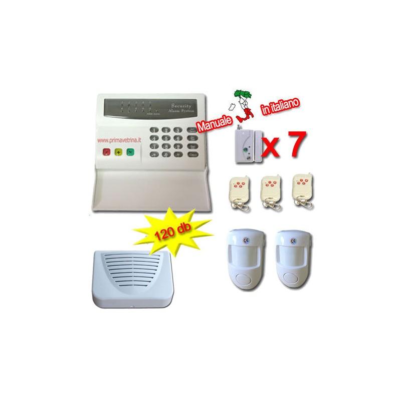 Antifurto casa ufficio senza fili allarme wireless con combinatore telefonico integrato kit ...