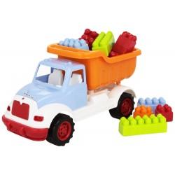 Camion con 36 costruzioni colorate di diverse misure Bontempi