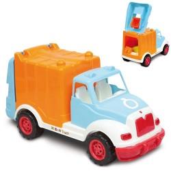 Camion con 38 costruzioni colorate di diverse misure