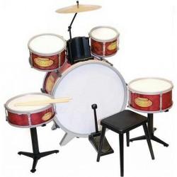 Batteria Bontempi Rock Drummer JD 5215 con sgabello e baghette