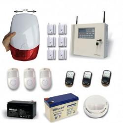 Allarme casa professionale senza fili combinatore GSM kit completo di sirena esterna filare