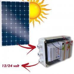 Kit ad isola pannello solare con pacco batterie 12/24 volt