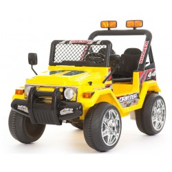 Jeep elettrica 2 posti gialla con radiocomando parental controll