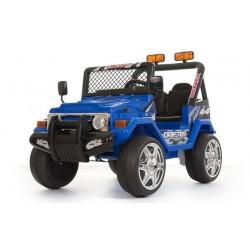Jeep elettrica 2 posti blu con radiocomando parental controll