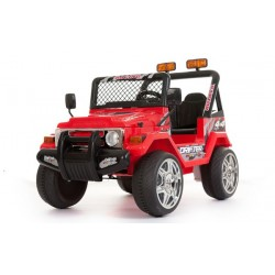 Jeep elettrica 2 posti rossa con radiocomando parental controll