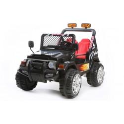 Jeep elettrica 2 posti nera con radiocomando parental controll