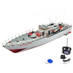 Barca radiocomandata lancia missili rc elettrica con due motori
