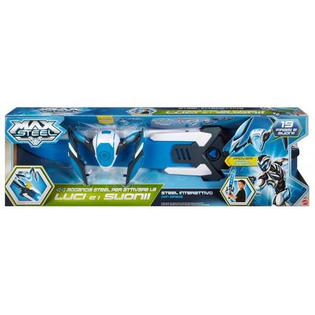 Max Steel Spada Turbo con steel interattivo