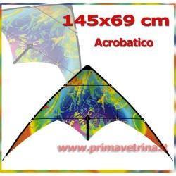 AQUILONE ACROBATICO BEBOP CRAZY COLOR 145X69 CM FIBERGLASS