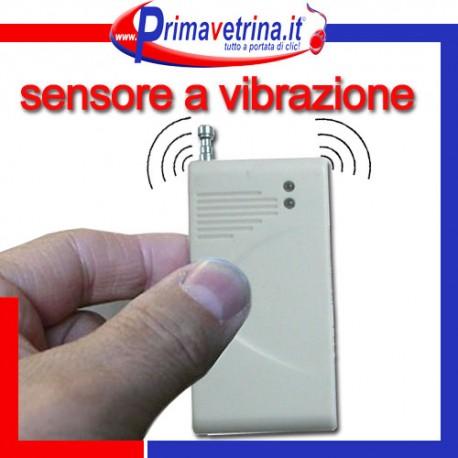 Sensore allarme vibrazione rottura vetri senza fili wifi